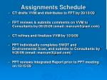 assignments schedule