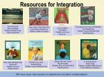 resources for integration