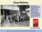 soup kitchens