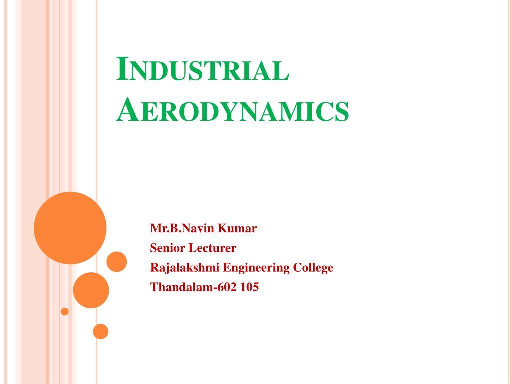 industrial aerodynamics l.