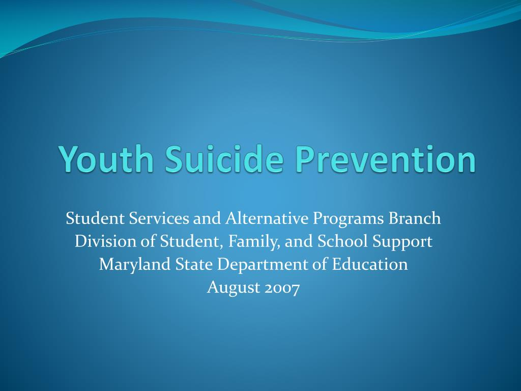 youth suicide prevention l.