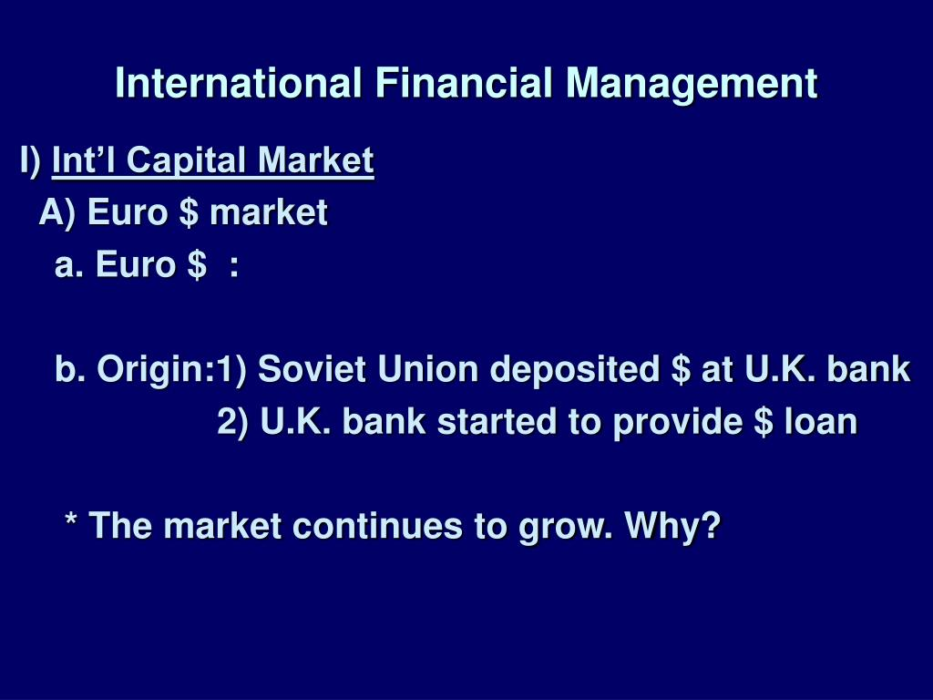 international financial management l.