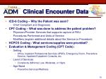 clinical encounter data