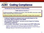 coding compliance