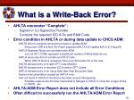 what is a write back error