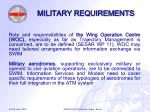 military requirements12