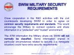 swim military security requirements18