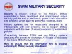 swim military security