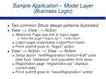 sample application model layer business logic