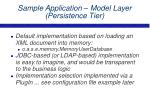 sample application model layer persistence tier30