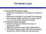 the model layer