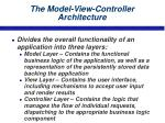 the model view controller architecture