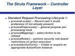 the struts framework controller layer22