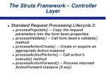 the struts framework controller layer23