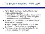the struts framework view layer