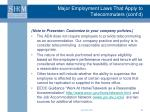 major employment laws that apply to telecommuters cont d23