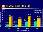 class level results