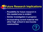 future research implications