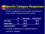 specific category responses