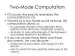 two mode computation17