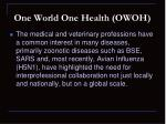 one world one health owoh