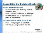 assembling the building blocks