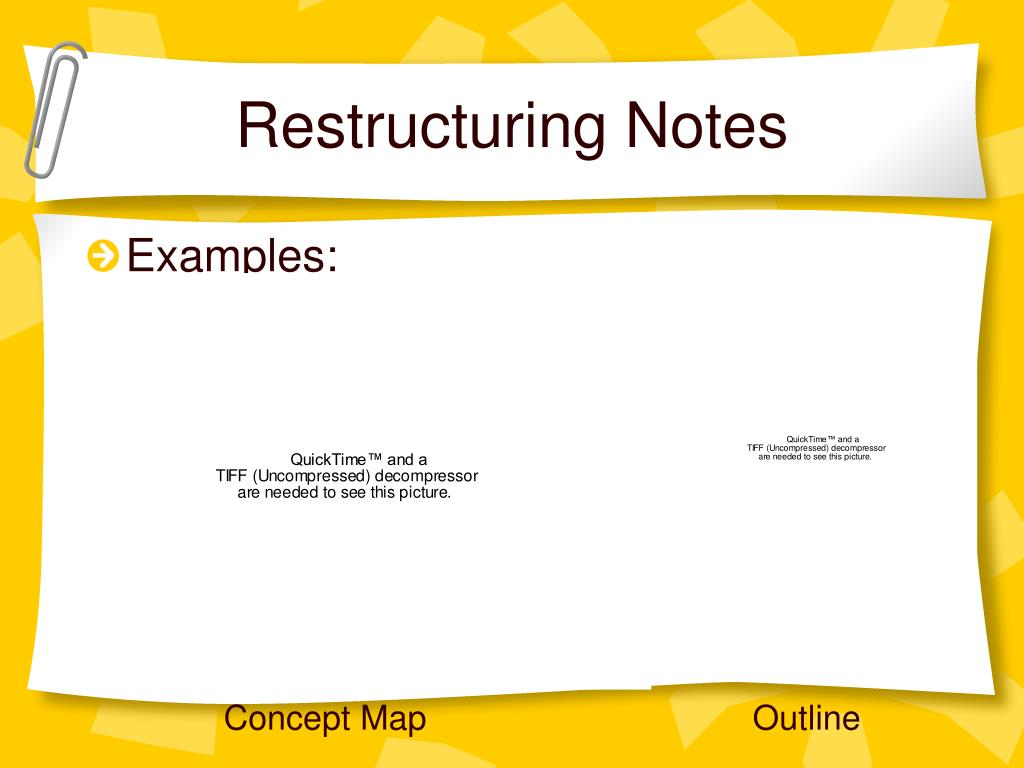 Restructuring Notes