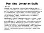 part one jonathan swift
