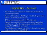 capabilities aerosols