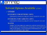 solvent options available cont14