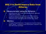 802 11a performance data from atheros