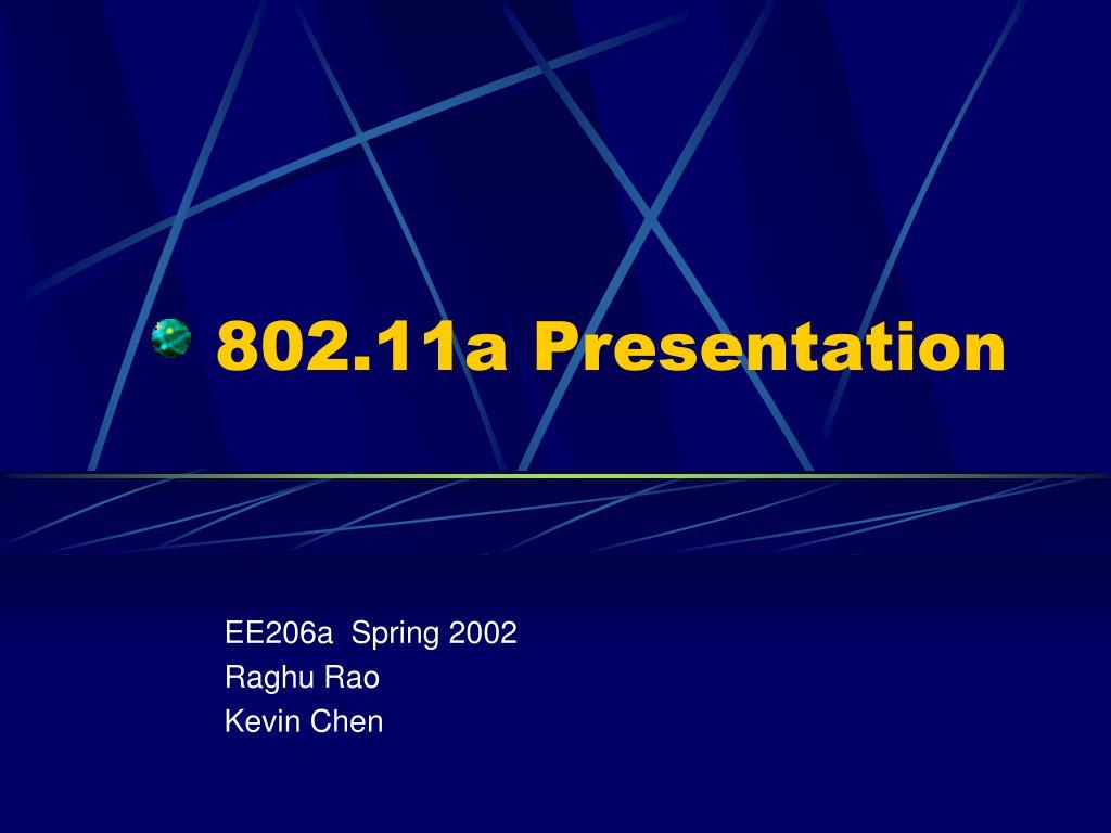 802 11a presentation l.