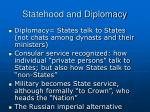 statehood and diplomacy