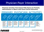 physician payer interaction