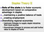 staples theory ii