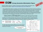 egm entropy generation minimization papers