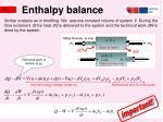 enthalpy balance
