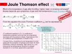 joule thomson effect