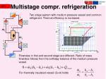 multistage compr refrigeration