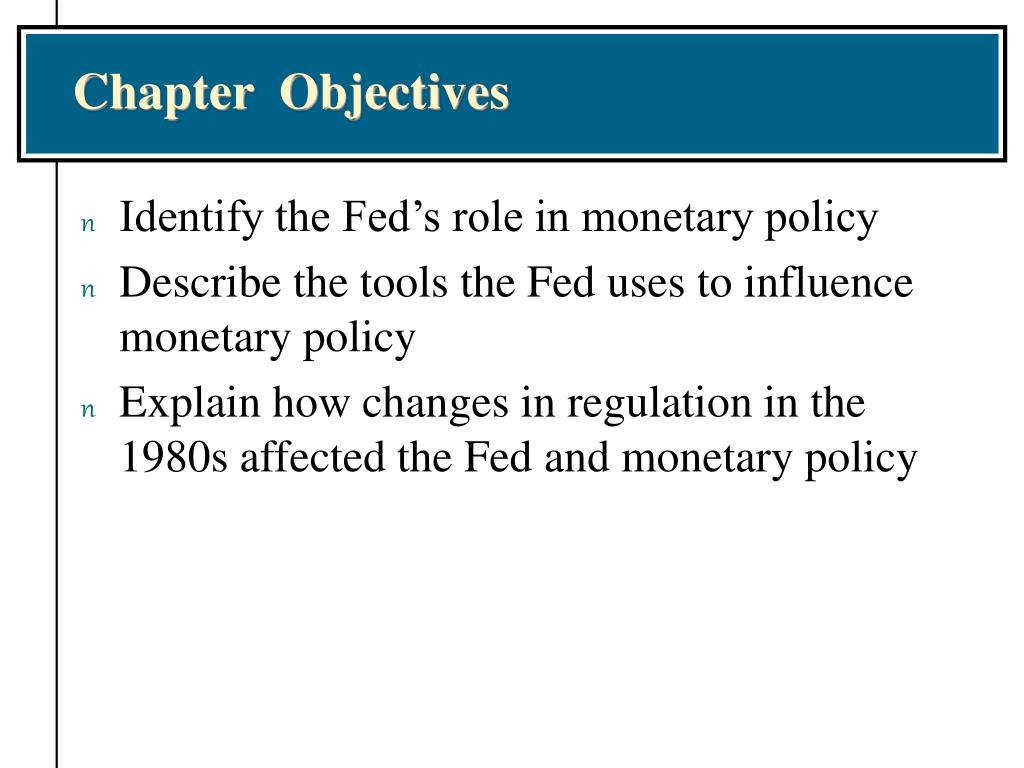 role of the fed in the