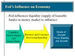 fed s influence on economy