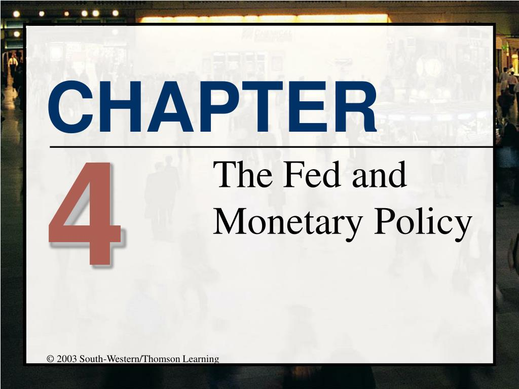 the fed and monetary policy l.