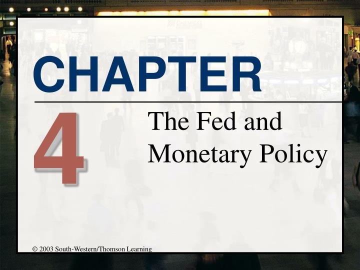 the fed and monetary policy n.
