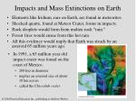 impacts and mass extinctions on earth35