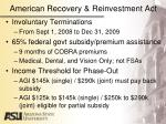 american recovery reinvestment act