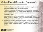 online payroll correction form cont d