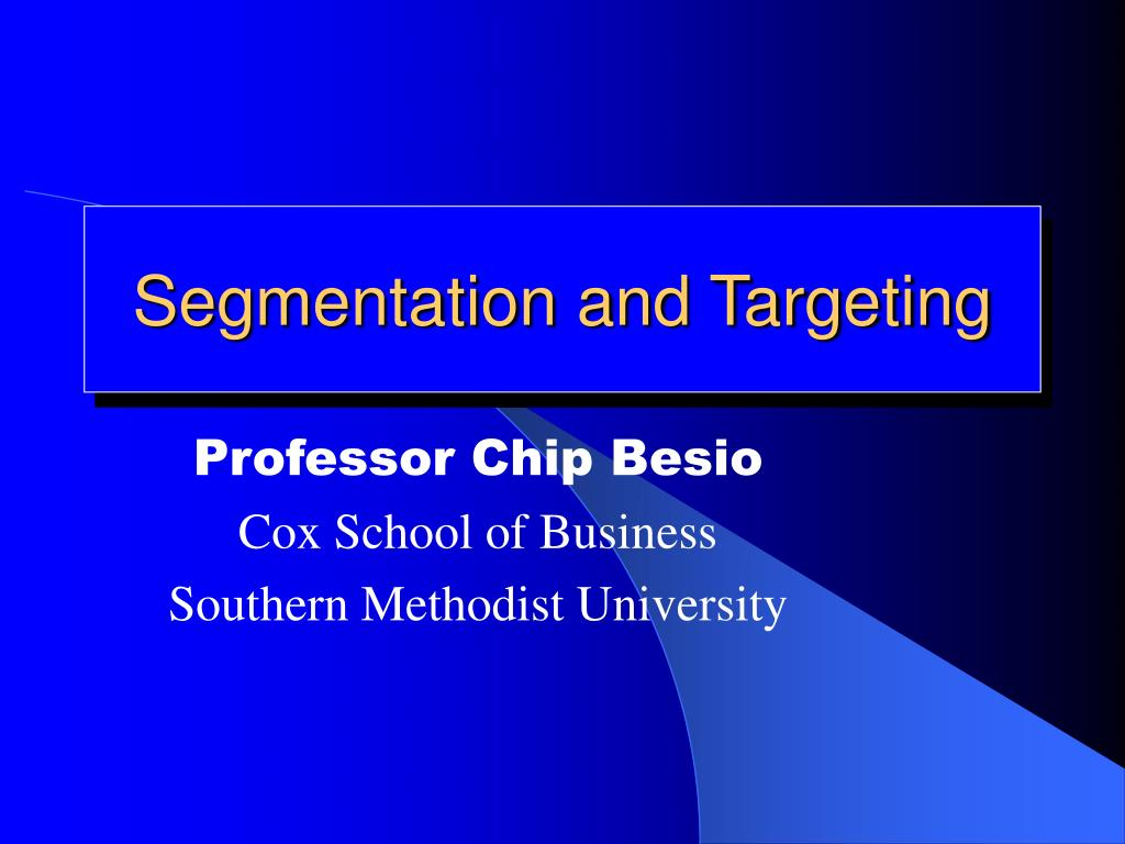 segmentation and targeting l.