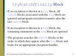 try catch finally block11