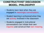 constructivist discussion model philosophy