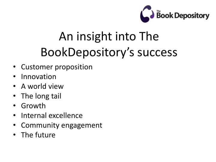 An insight into the bookdepository s success